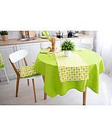 Скатерть на стол Яблочки зеленая