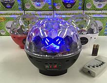 Диско куля акумуляторний з радіо і блютузом RJL-608/ DMX-512 (24)