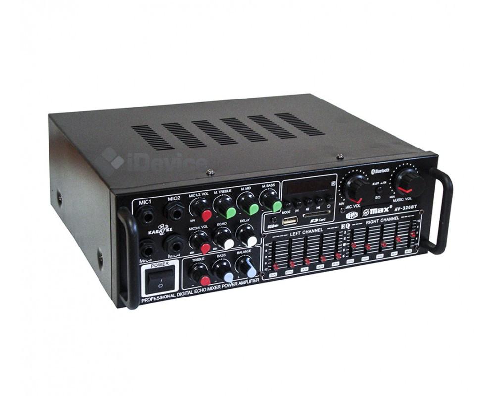 Усилитель звука UKC AV-326BT Bluetooth, эквалайзер