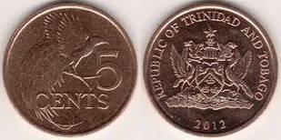 Trinidad Тринидад и Тобаго - 5 Cents 2012 UNC