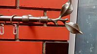 Карниз Карди одинарный Лист Розы сатин-1,6м, фото 1