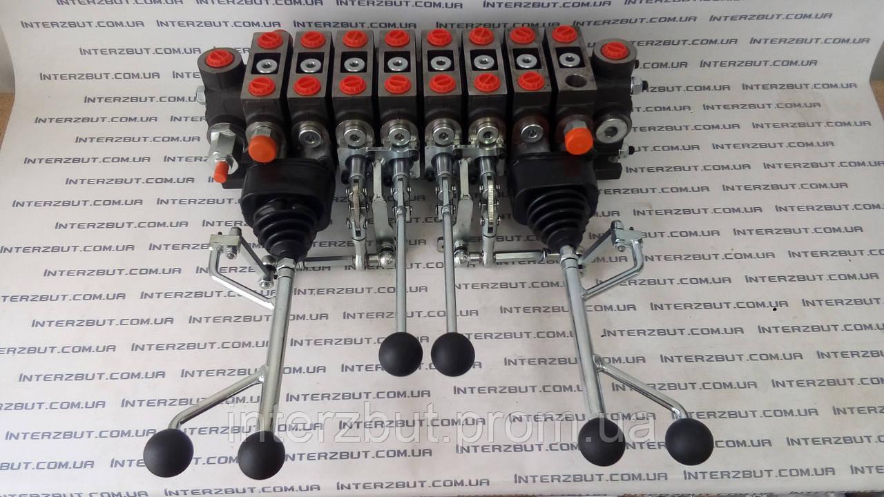 Гідравлічний розподільник на маніпулятор з двома трйох  осьовими джойстиками