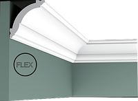 Карниз(плинтус) потолочный гладкий Orac Decor Axxent CX100F 6,9 x 7,1 x200 см лепной декор из дюрополимера