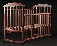 Деревянная кроватка-люлька с опускающимися перилами Ясень