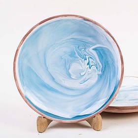 Тарелка мелкая - 21 см, Голубая (Ucr Ceramic) Коларит