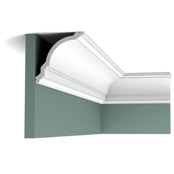 Карниз потолочный гладкий Orac Decor Axxent CX106 11,8 x 11,7 x200 см лепной декор из дюрополимера