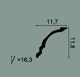 Карниз потолочный гладкий Orac Decor Axxent CX106 11,8 x 11,7 x200 см лепной декор из дюрополимера, фото 2