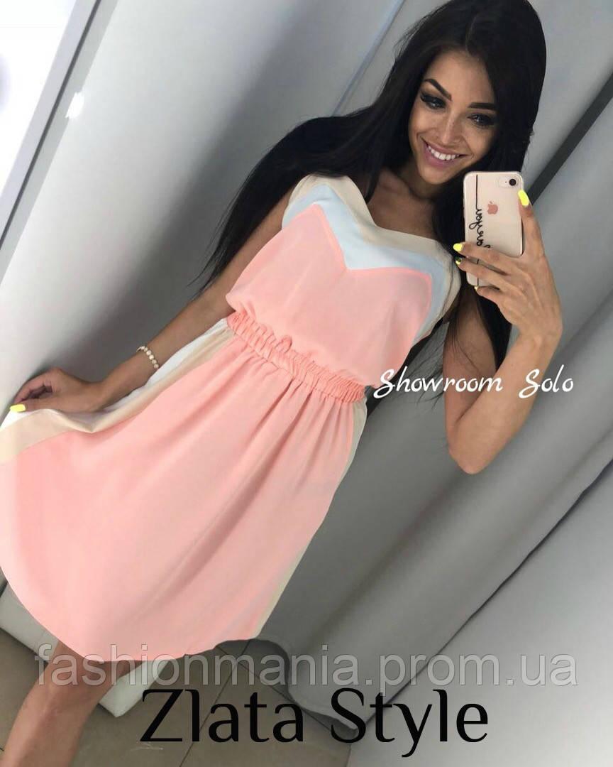 Платье Solo голубое, бордо, персик, фото 1