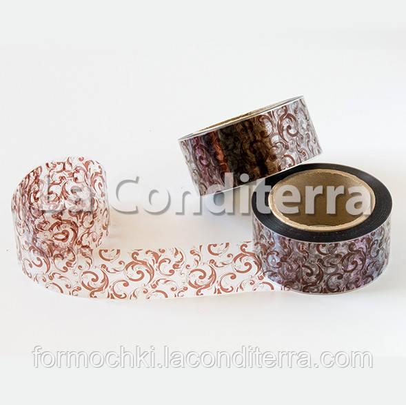 Кондитерская бордюрная лента с узорами (высота 50 мм), рулон 100 м