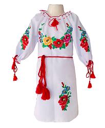 """Красивое вышитое детское платье """"Цветочный сад"""""""