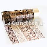 Кондитерська бордюрна стрічка з візерунками (висота 50 мм), рулон 100 м, фото 4