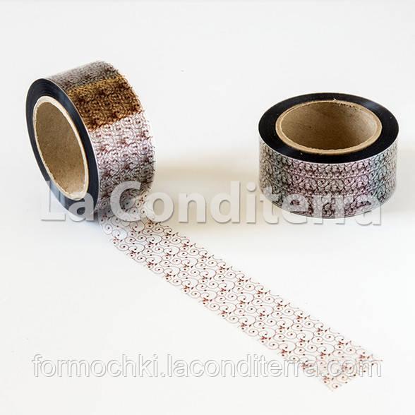 """Кондитерська бордюрна стрічка з орнаментом """"Версаль"""" (висота 60 мм), рулон 100 м"""