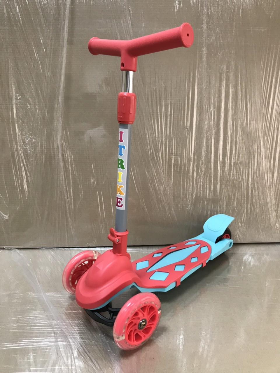 Самокат детский BB 3-030-А  iTrike со складным рулем Гарантия качества Быстрая доставка