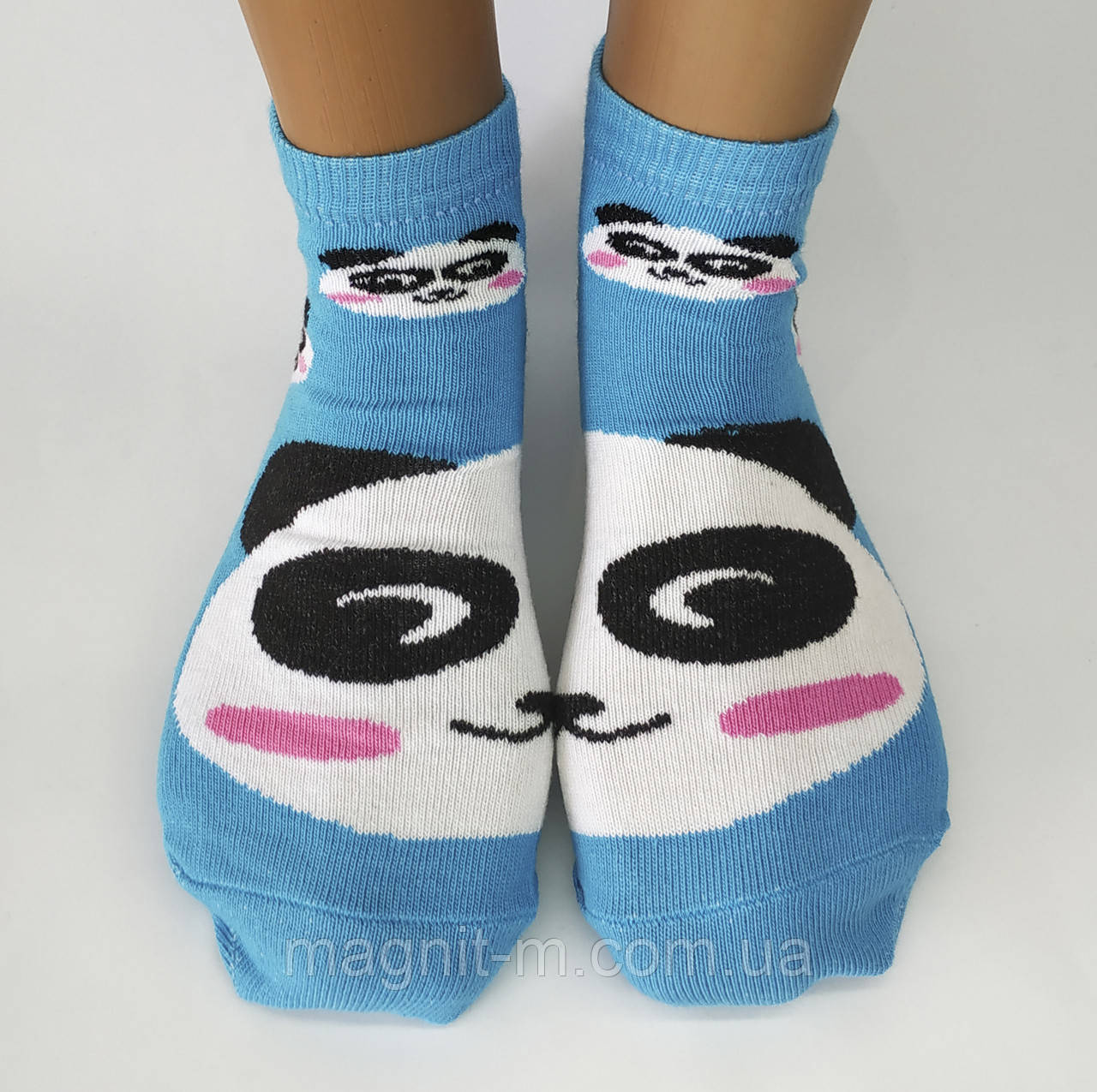 """Женские стрейчевые носки """"Calze Vita"""". Панда и мопс. Турция."""