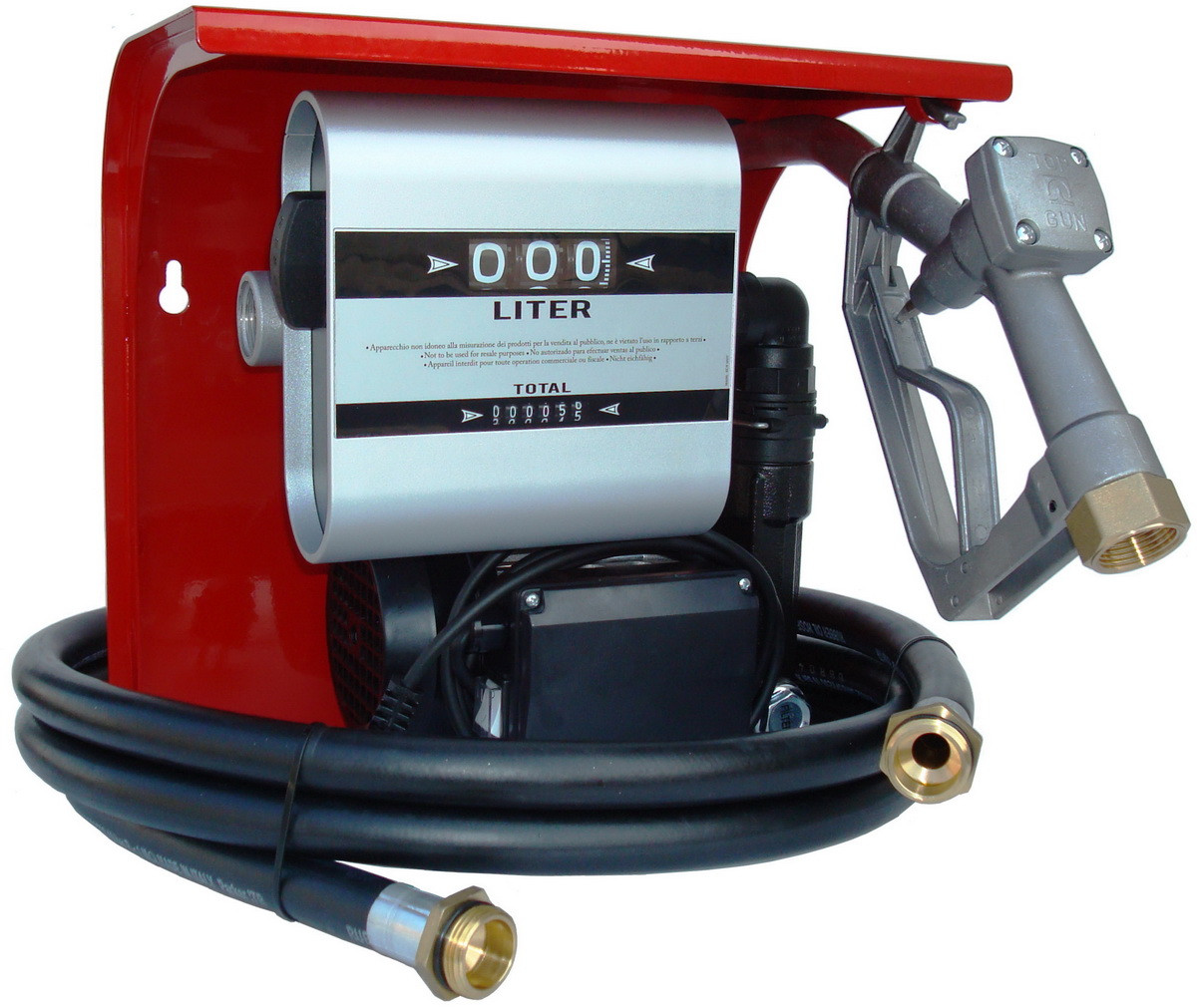 Hi - Tech 70 - Мобильная топливораздаточная колонка для топлива с расходометром  , 220В, 60 л/мин