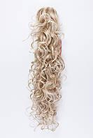 Волнистый шиньон на крабе №10. цвет мелирование светло-русый с блондом