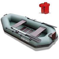 Лодка надувная Sport-Boat С 245LS + Насос электрический Турбинка 12V АС 401, фото 1
