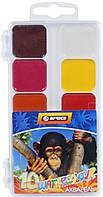 """Краски акварельные медовые """"Africa"""", 10 цветов, без кисточки, Economix(E60115)"""
