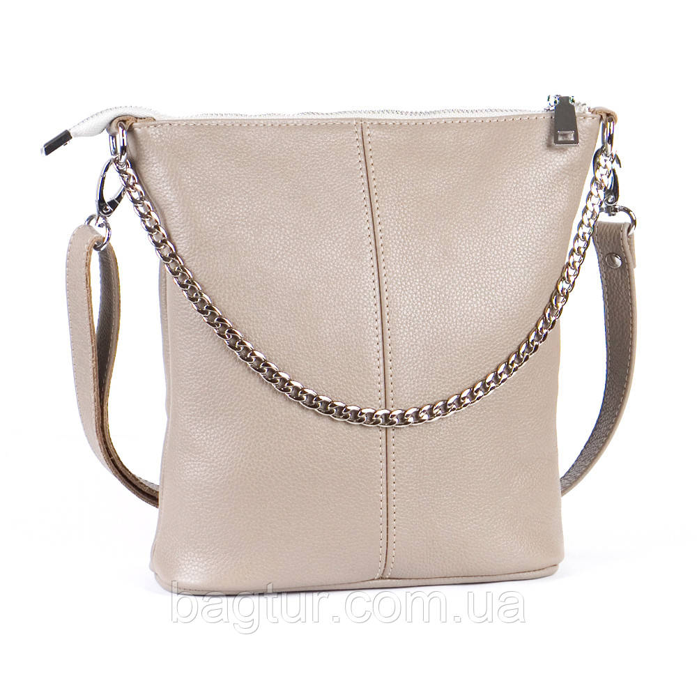 Женская сумочка кожаная 41 капучино 01410109