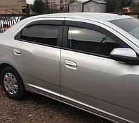 Дефлекторы окон Chevrolet Cobalt 2012 / Ветровики Шевроле Кобальт 2012