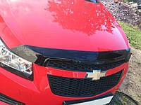 Дефлектор капота Chevrolet CRUZE 09- / Мухобойка Шевроле Круз 09-