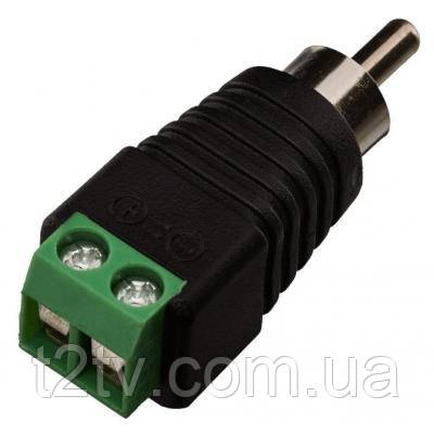 Коннектор GreenVision RCA/M (male) (100 шт) (3573)