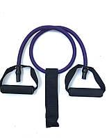 Эспандер 1.2 метр фиолетовый 12 мм + дверной якорь, фото 1