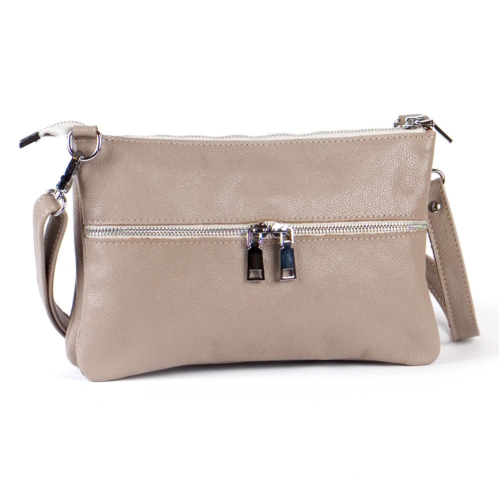 Кожаная женская сумочка кросс-боди 28 капучино 01280109