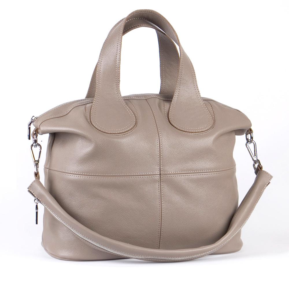 Женская кожаная сумка 22 капучино 01220109