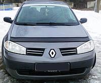 Дефлектор капота Renault Megan II 2002-2008 / Мухобойка Рено Меган 2 2002-2008
