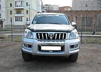 Дефлектор капота Toyota Land Cruiser Prado 120 2001-2008 (PZ451J0530ZA) / Мухобойка Тойота Ленд Крузер Прадо 120 2001-2008 (ПЗ451Й0530ЗА)