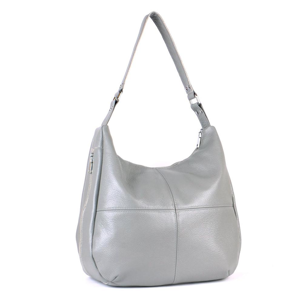 Женская кожаная сумка 14 серый флотар 01140114