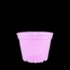 Вазон дренажний для розсади та повітряних куль 13,0*9,7 см рожевий (прозорий)