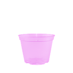 Вазон дренажный для рассады и воздушных шаров 13,0*9,7 см розовый (прозрачный)