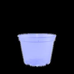Вазон дренажный для рассады и воздушных шаров 13,0*9,7 см фиолетовый (прозрачный)
