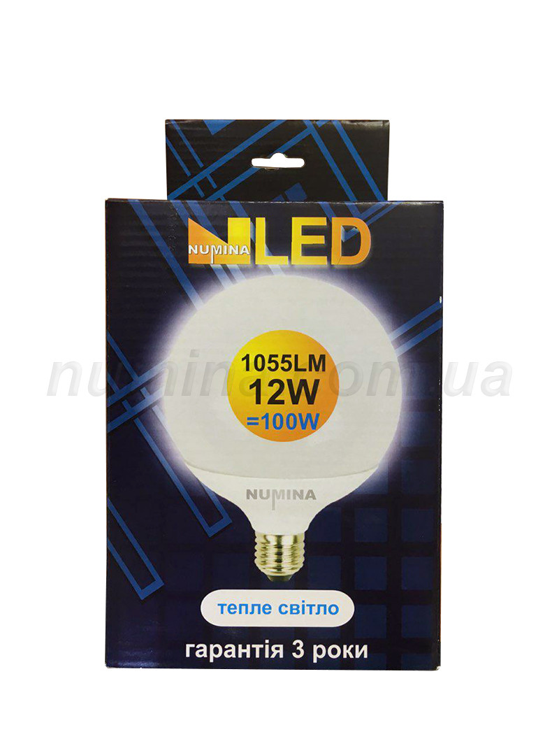 Светодиодная лампа шар LAMP G120 12W E27 3000K