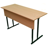 Парта двухместная с наклонной поверхностью 1200 ммх500 мм