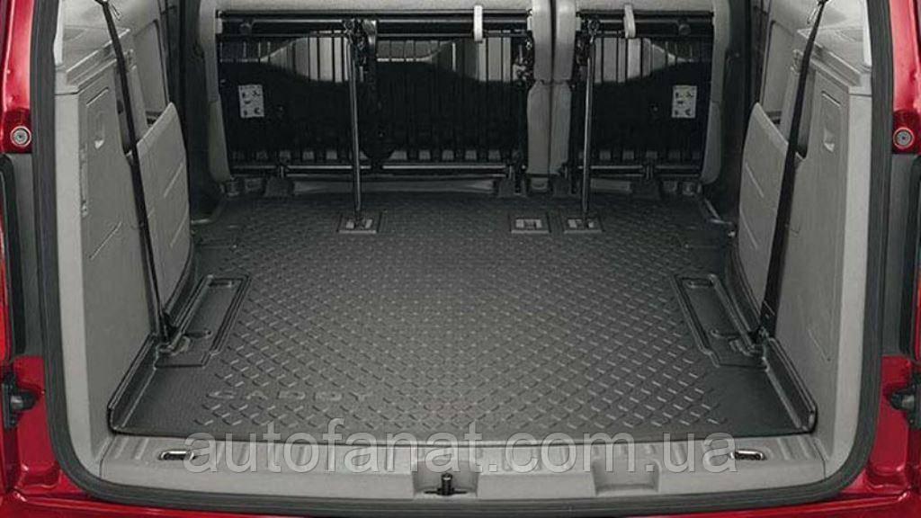 Оригинальный коврик в багажник Volkswagen Caddy 2008-2010 5- и 7-местных (мягкий) (2K3061161A)