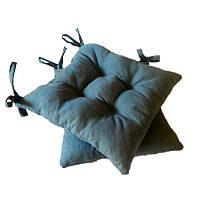 Подушка на стул Пике синий  40*40 см