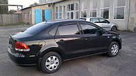 Дефлекторы окон Volkswagen Polo V Sd 2010 / Ветровики Фольксваген Поло В Сд 2010