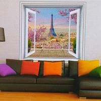 Фотообои, город, За окном Париж размер 196смХ210м, 12 листов