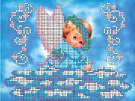 Схема для вышивки бисером Голубоглазый ангелок КМР 5123