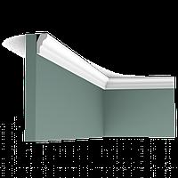 Карниз потолочный гладкий Orac Decor Axxent CX111 2,6 x 1,5 x200 см лепной декор из дюрополимера