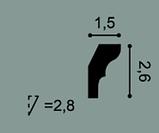 Карниз потолочный гладкий Orac Decor Axxent CX111 2,6 x 1,5 x200 см лепной декор из дюрополимера, фото 2