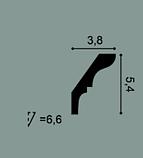 Карниз потолочный гладкий Orac Decor Axxent CX112 5,4 x 3,8 x200 см лепной декор из дюрополимера, фото 2