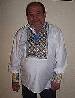 """Мужская вышитая сорочка """"Справжнiй козак"""""""