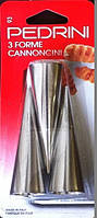 Форма для трубочек 3 штуки Pedrini (Италия) Оригинал, Кондитерские аксессуары