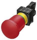 Кнопка аварийная Siemens 3SB3201-1HA20 80 mm,пластик