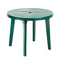 Пластиковий круглий стіл, зелений
