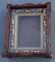 Киот для иконы фигурный, открывающийся, с пластиковой рамкой., фото 1